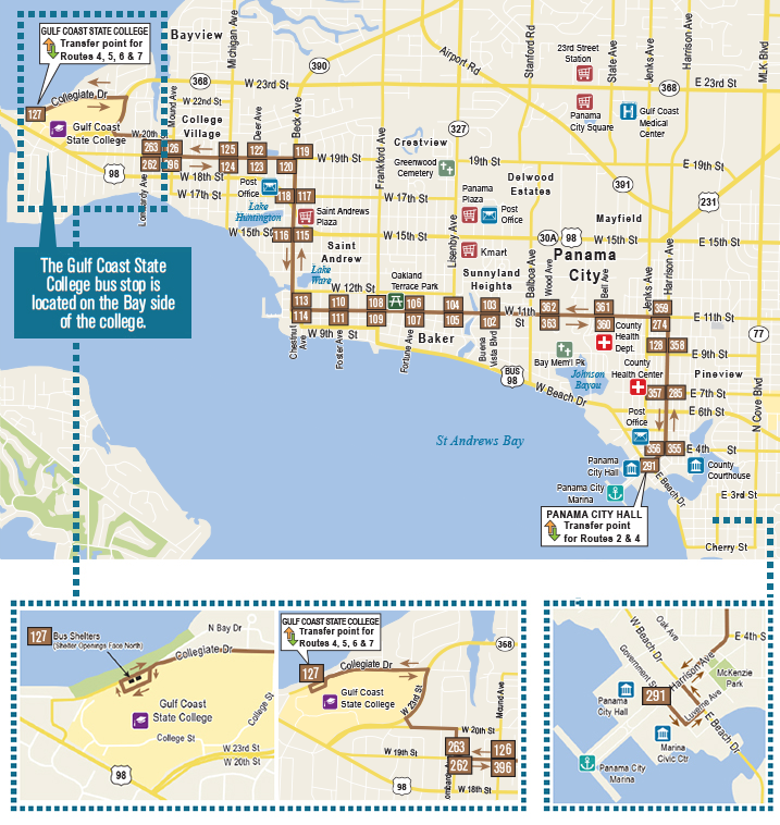 Bay Town Trolley Route 4 Map