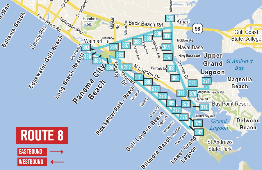 Route 8 | Thomas Drive – Front Beach Road Loop